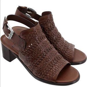 "Brighton ""Twine"" Woven Block Heel Sandals Size 9.5"